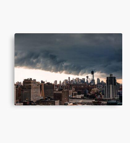 New York City Under Stormy Sky Canvas Print