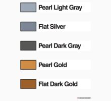 Brick Sorting Labels: Pearl Light Gray, Flat Silver, Pearl Dark Gray, Pearl Gold, Flat Dark Gold by 9thDesignRgmt