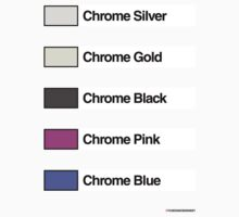 Brick Sorting Labels: Chrome Silver, Chrome Gold, Chrome Black, Chrome Pink, Chrome Blue by 9thDesignRgmt