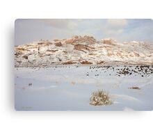 Split Mountain Winter Light Canvas Print