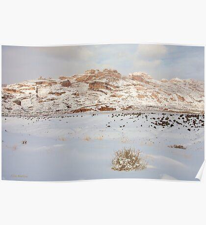 Split Mountain Winter Light Poster