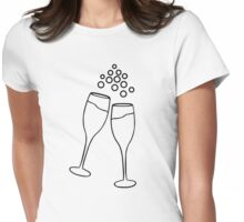 Champagne Toast Womens Fitted T-Shirt