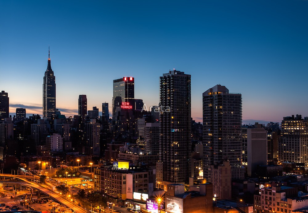 Sunrise in New York City by Arata