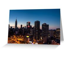 Sunrise in New York City Greeting Card