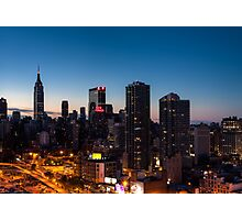 Sunrise in New York City Photographic Print