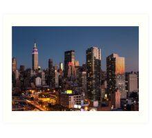 Empire State Building in Purple Art Print