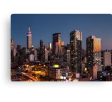 Empire State Building in Purple Canvas Print