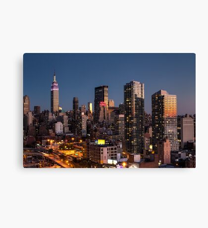 Empire State Building in Purple Canvas Print