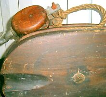 Old Boat Pulley by Judi Rustage