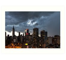 New York City Under Stormy Sky Art Print