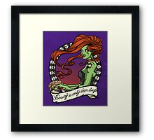 Zombies are Forever Framed Print