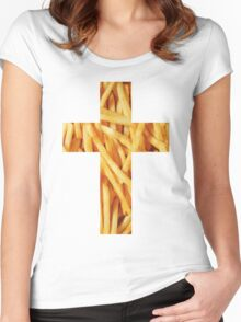 Fries - Cross Women's Fitted Scoop T-Shirt