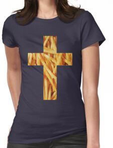 Fries - Cross Womens Fitted T-Shirt