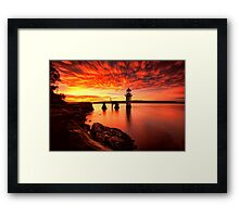 Fiery Dawn Framed Print