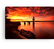 Fiery Dawn Canvas Print