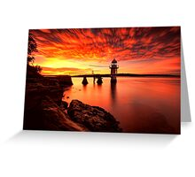 Fiery Dawn Greeting Card