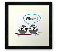 Whom Framed Print