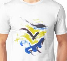 Yellow,blue,purple Unisex T-Shirt