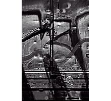 Silver Graffiti Photographic Print