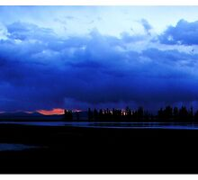 ~ A Sunset at Yellowstone National Park ~ by Brion Marcum