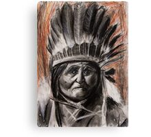 Drawing of Chief Geronimo Canvas Print