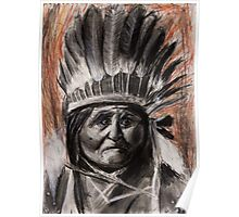 Drawing of Chief Geronimo Poster