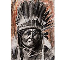 Drawing of Chief Geronimo Photographic Print