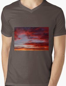 Clouds On Fire Mens V-Neck T-Shirt