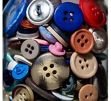 Jar of buttons Photographic Print