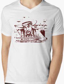 The cowboy in Big lebowski movie Mens V-Neck T-Shirt