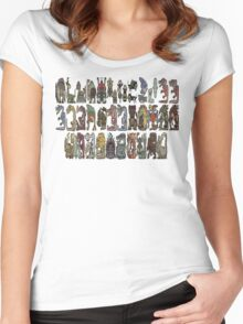 Monster Hunter Tri- Monster Emblems Women's Fitted Scoop T-Shirt