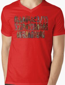 Monster Hunter Tri- Monster Emblems Mens V-Neck T-Shirt