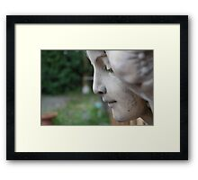 the lady pauses Framed Print