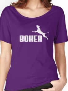 Boxer (white) Women's Relaxed Fit T-Shirt