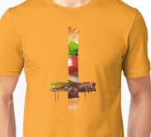 Upside Down Cross Burger Unisex T-Shirt