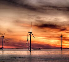 Wind Powered Sunrise by Darren Allen
