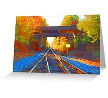 Abstract Tracks Greeting Card