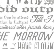 Edgar Allan Poe RAVEN typography Sticker