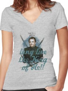 Crowley the King ♥ Women's Fitted V-Neck T-Shirt