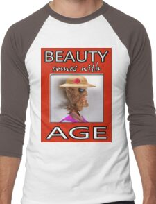BEAUTY COMES WITH AGE Men's Baseball ¾ T-Shirt