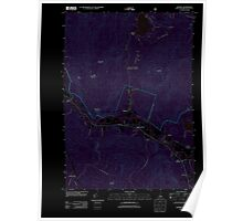 USGS TOPO Map New Hampshire NH Rumney 20120508 TM Inverted Poster