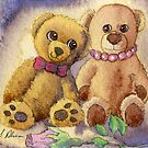 Teddy bear first date by SusanAlisonArt