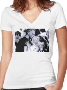 Michael Myers in Dirty Dancing Women's Fitted V-Neck T-Shirt