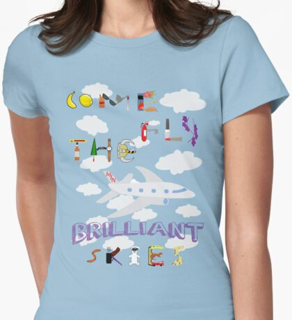 The BRILLIANT Skies Womens Fitted T-Shirt