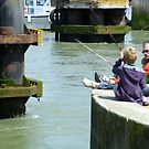 Fishing at Ouistreham, Normandy by GregoryE
