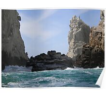 Ocean Waves Rock I Poster