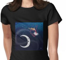 Kazart Over the Moon Womens Fitted T-Shirt