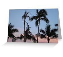 Sunset Palms II Greeting Card