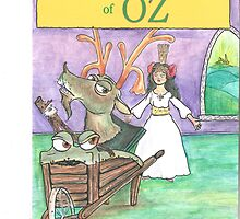 """The Evil Emerald Village of Oz"" bookcover by: Dennis Anfuso by RONBAXLEYJR"