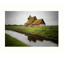 Romney Marsh Church Art Print